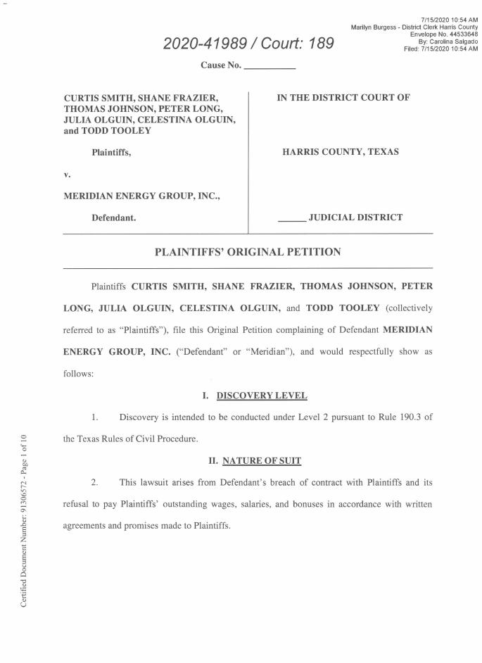 Meridian lawsuit cover